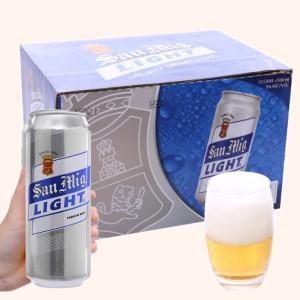 Thùng 12 lon bia San Mig Light 500ml