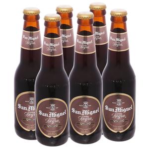 6 chai bia San Miguel Cerveza Negra 330ml