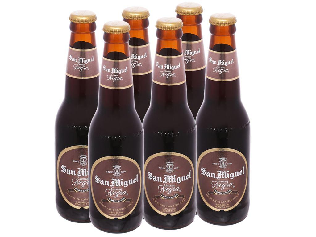 6 chai bia San Miguel Cerveza Negra 330ml 1