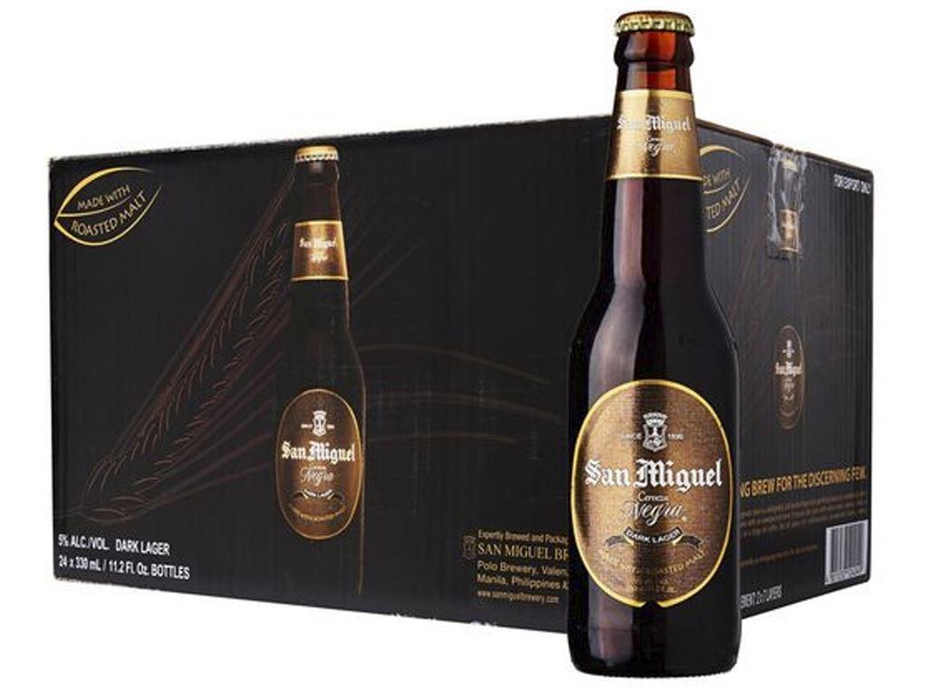 Thùng 24 chai bia San Miguel Cerveza Negra 330ml 1