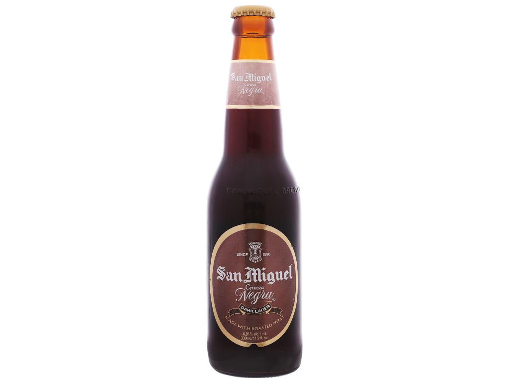 Thùng 24 chai bia San Miguel Cerveza Negra 330ml 2