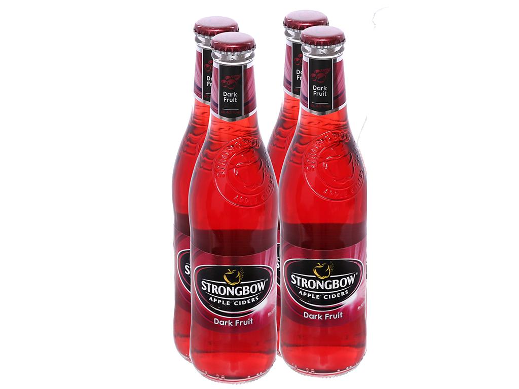 4 chai Strongbow dâu đen 330ml 1