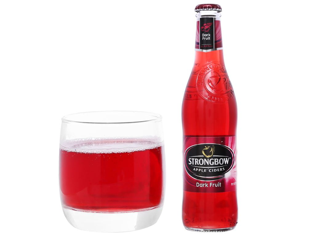 Thùng 24 chai Strongbow dâu đen 330ml 6
