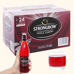 Thùng 24 chai Strongbow dâu đen 330ml