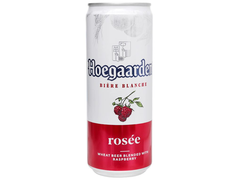 6 lon bia Hoegaarden Rosée 330ml 2