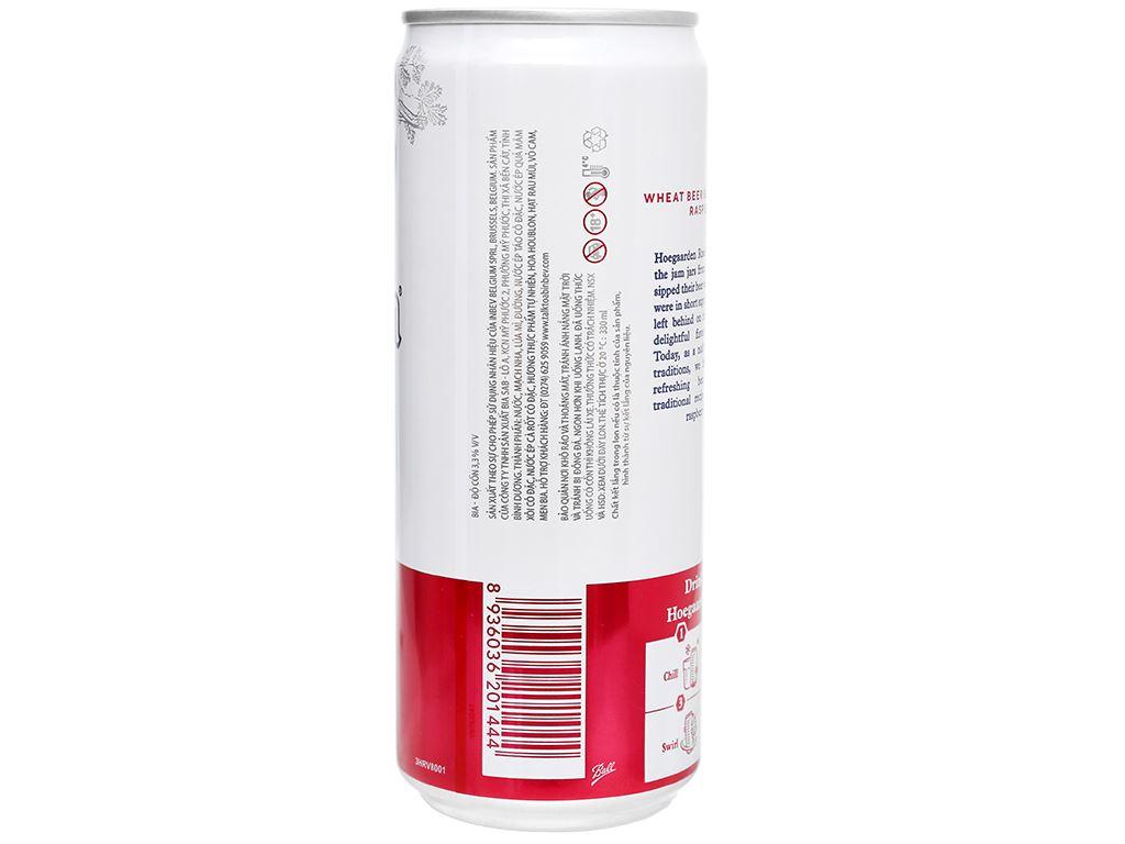 6 lon bia Hoegaarden Rosée 330ml 4