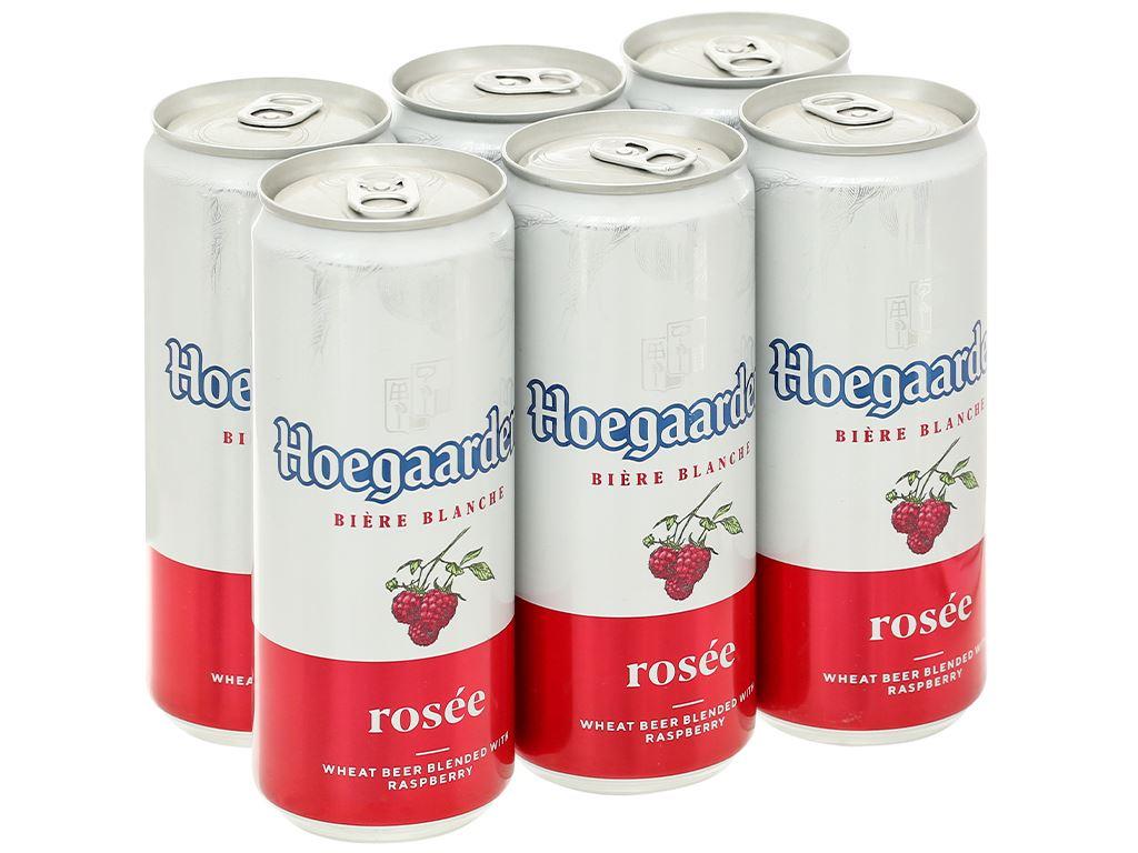 6 lon bia Hoegaarden Rosée 330ml 1