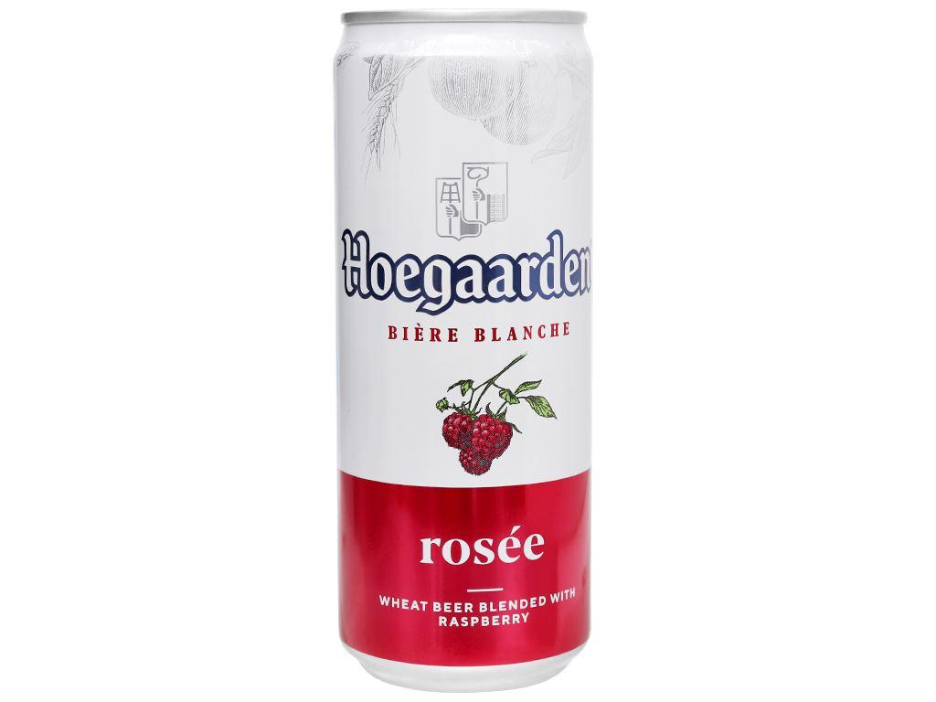 Thùng 24 lon bia Hoegaarden Rosée 330ml 3