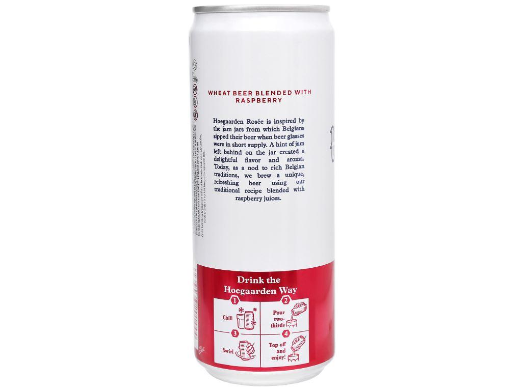 Thùng 24 lon bia Hoegaarden Rosée 330ml 4