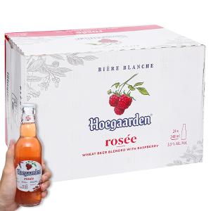 Thùng 24 chai bia Hoegaarden Rosée 248ml
