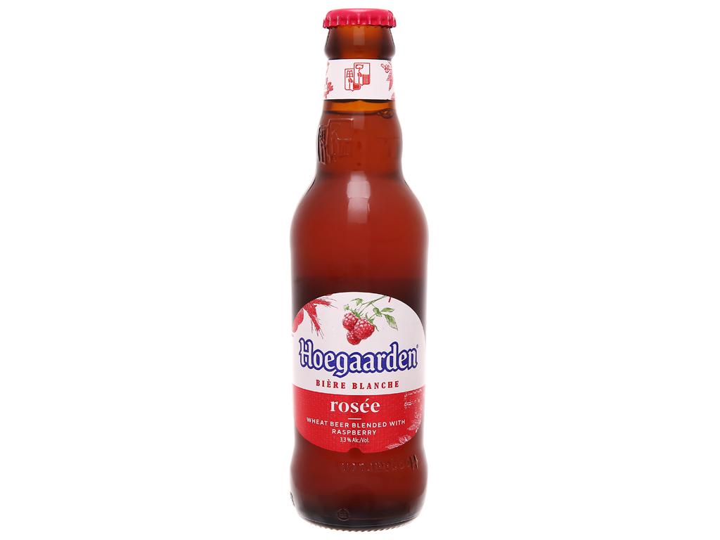 Thùng 24 chai bia Hoegaarden Rosée 248ml 2