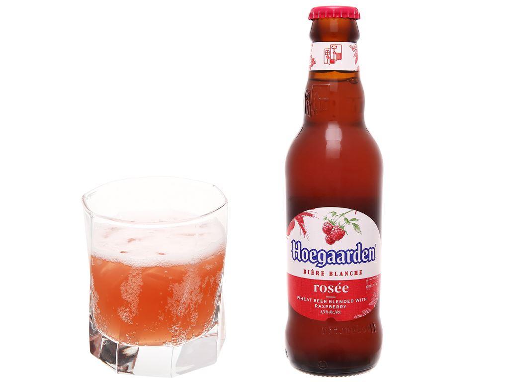 Thùng 24 chai bia Hoegaarden Rosée 248ml 6