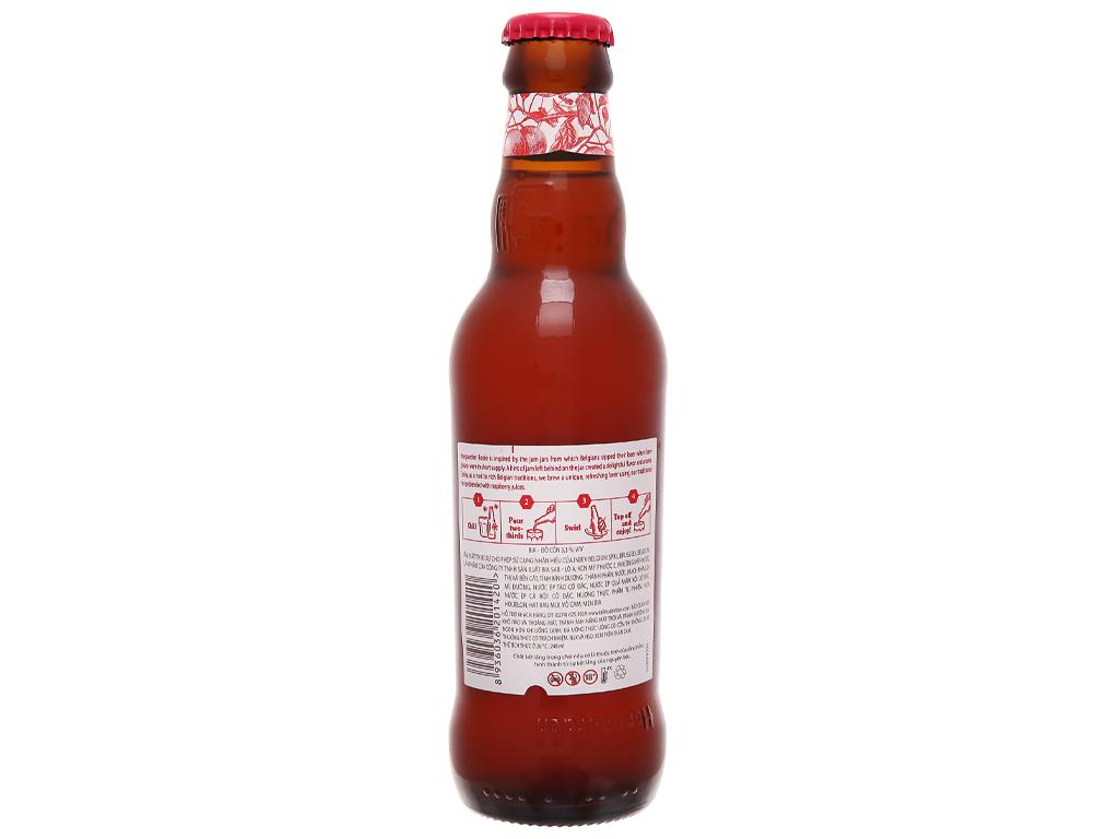 6 chai bia Hoegaarden Rosée 248ml 3