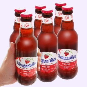 6 chai bia Hoegaarden Rosée 248ml