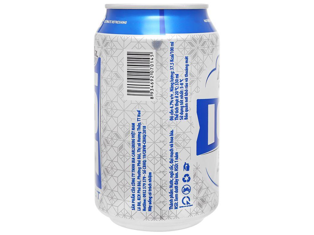 Thùng 24 lon bia Huda Ice Blast 330ml 3