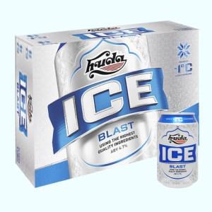 Thùng 24 lon bia Huda Ice Blast 330ml