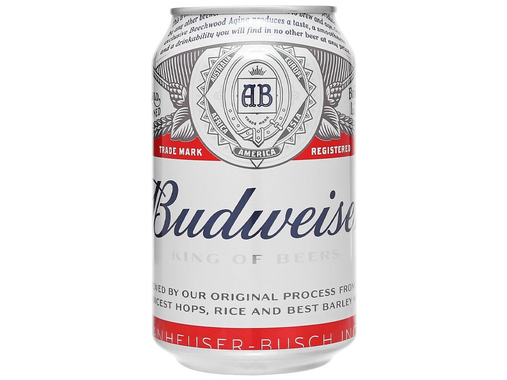 Thùng 20 lon bia Budweiser 330ml 2
