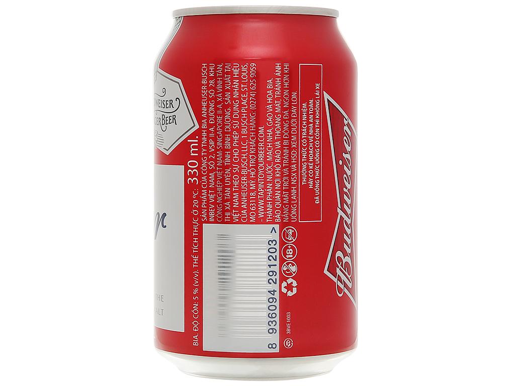 Thùng 20 lon bia Budweiser 330ml 8