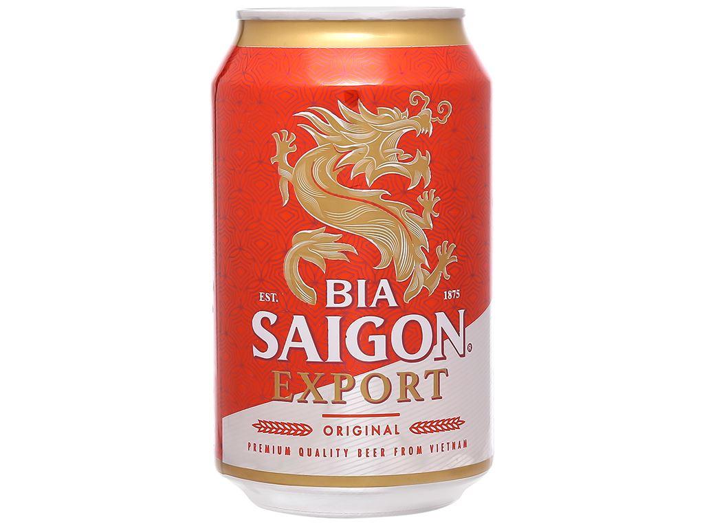 6 lon bia Sài Gòn Export 330ml 2