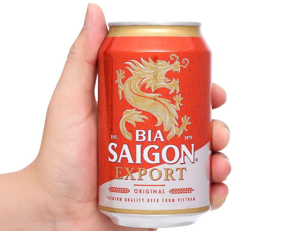 6 lon bia Sài Gòn Export 330ml 6