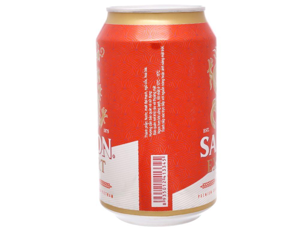 Thùng 24 lon bia Sài Gòn Export 330ml 4