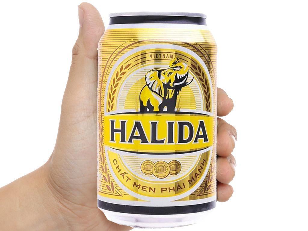 6 lon bia Halida 330ml 5