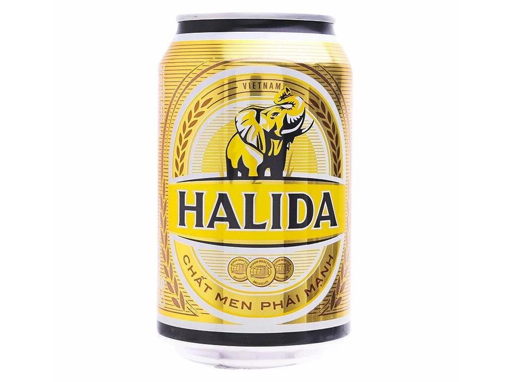 Thùng 24 lon bia Halida 330ml 2