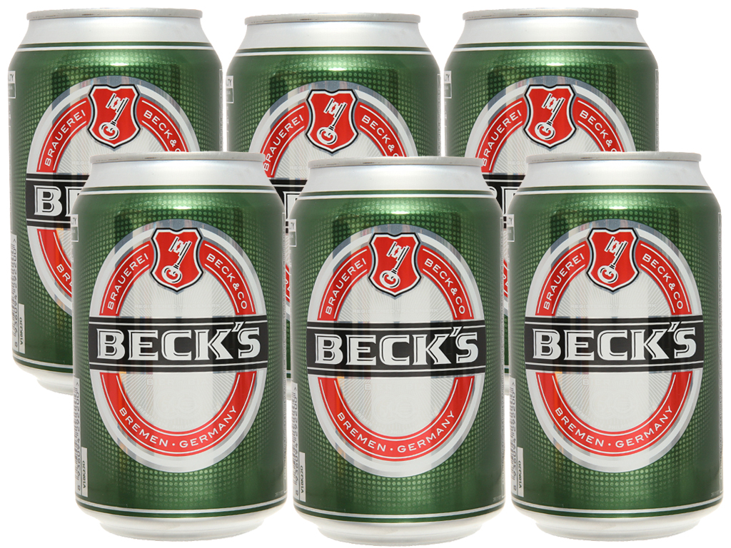 6 lon bia Beck's 330ml 1
