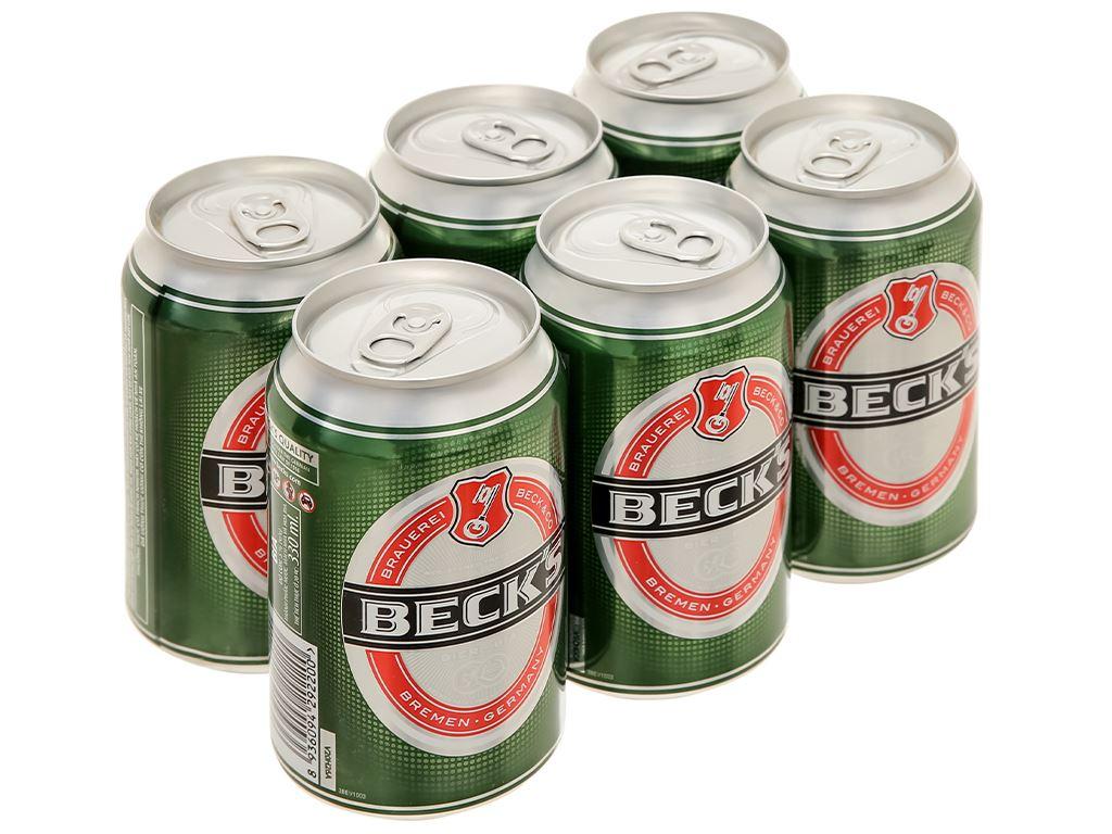 6 lon bia Beck's 330ml 1