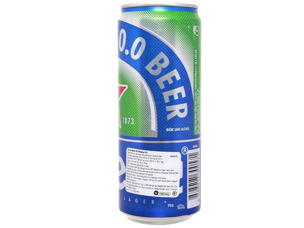 Bia Heineken 0.0% độ cồn lon 330ml 2