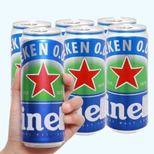 6 lon bia Heineken 0.0% độ cồn 330ml
