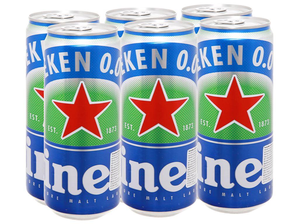 6 lon bia Heineken 0.0% độ cồn 330ml 1
