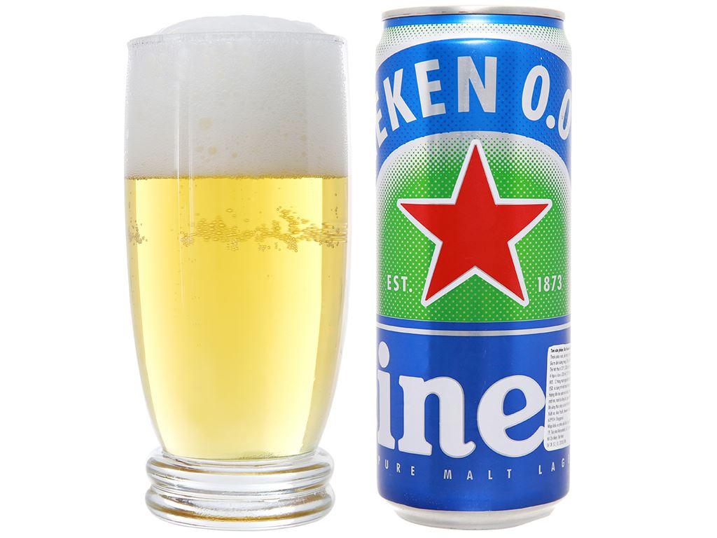 6 lon bia Heineken 0.0% độ cồn 330ml 10