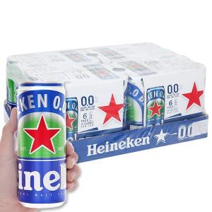 Thùng 24 lon bia Heineken 0.0% độ cồn 330ml