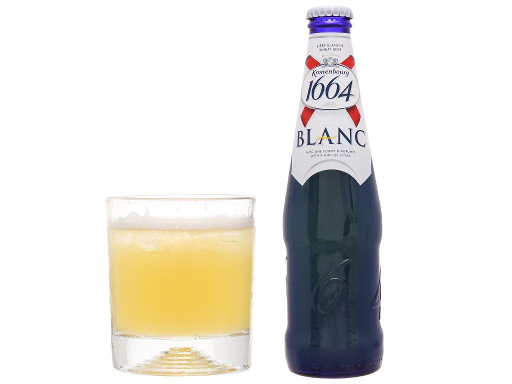 6 chai bia Kronenbourg 1664 Blanc 330ml 6