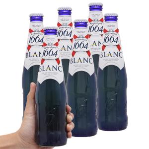 6 chai bia Kronenbourg 1664 Blanc 330ml