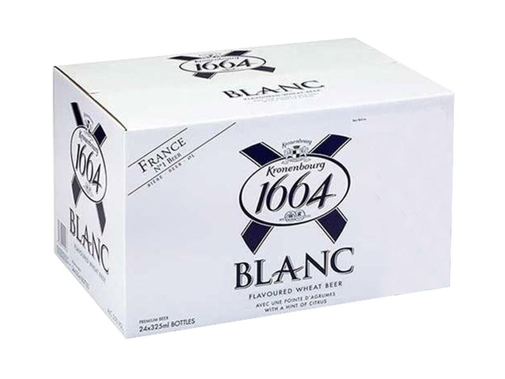 Thùng 24 chai bia Kronenbourg 1664 Blanc 330ml 1
