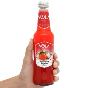 Nước trái cây lên men Vola Twist Strawberry & Lychee chai 275ml
