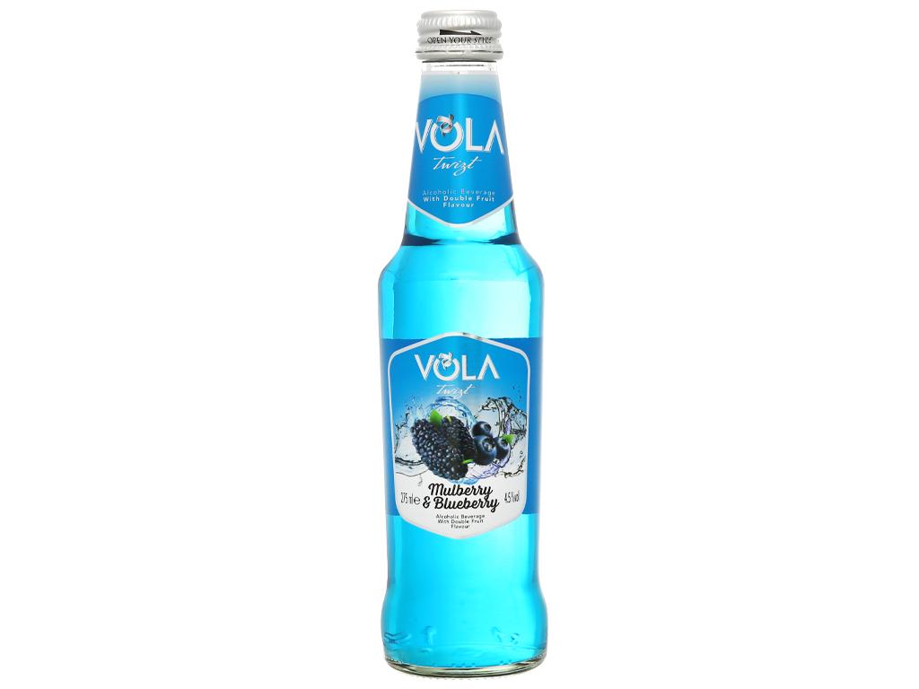 Nước trái cây lên men Vola Twist Mulberry & Blueberry chai 275ml 1