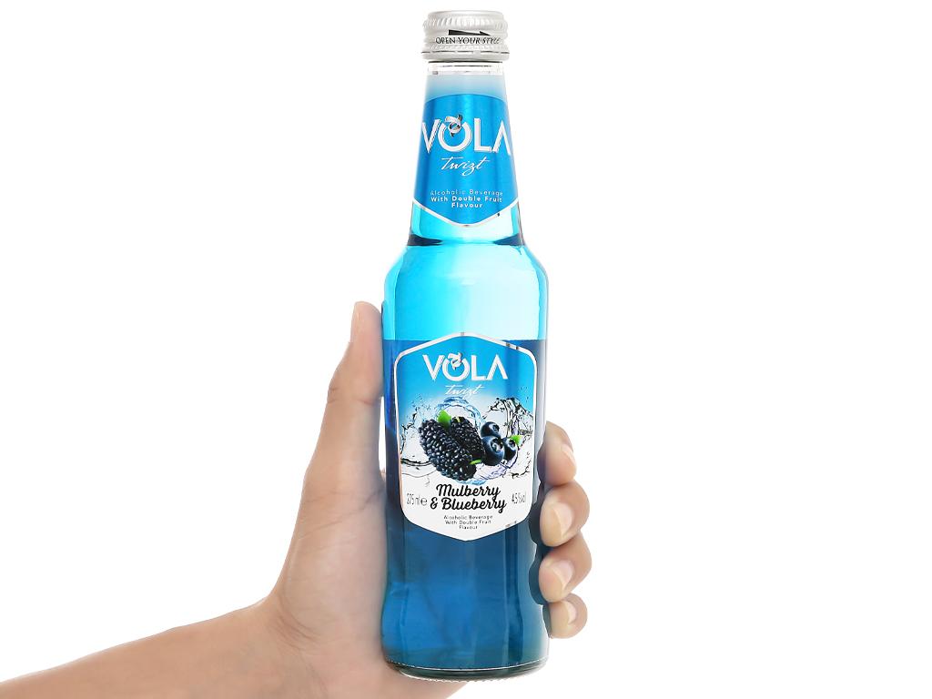 Nước trái cây lên men Vola Twist Mulberry & Blueberry chai 275ml 5