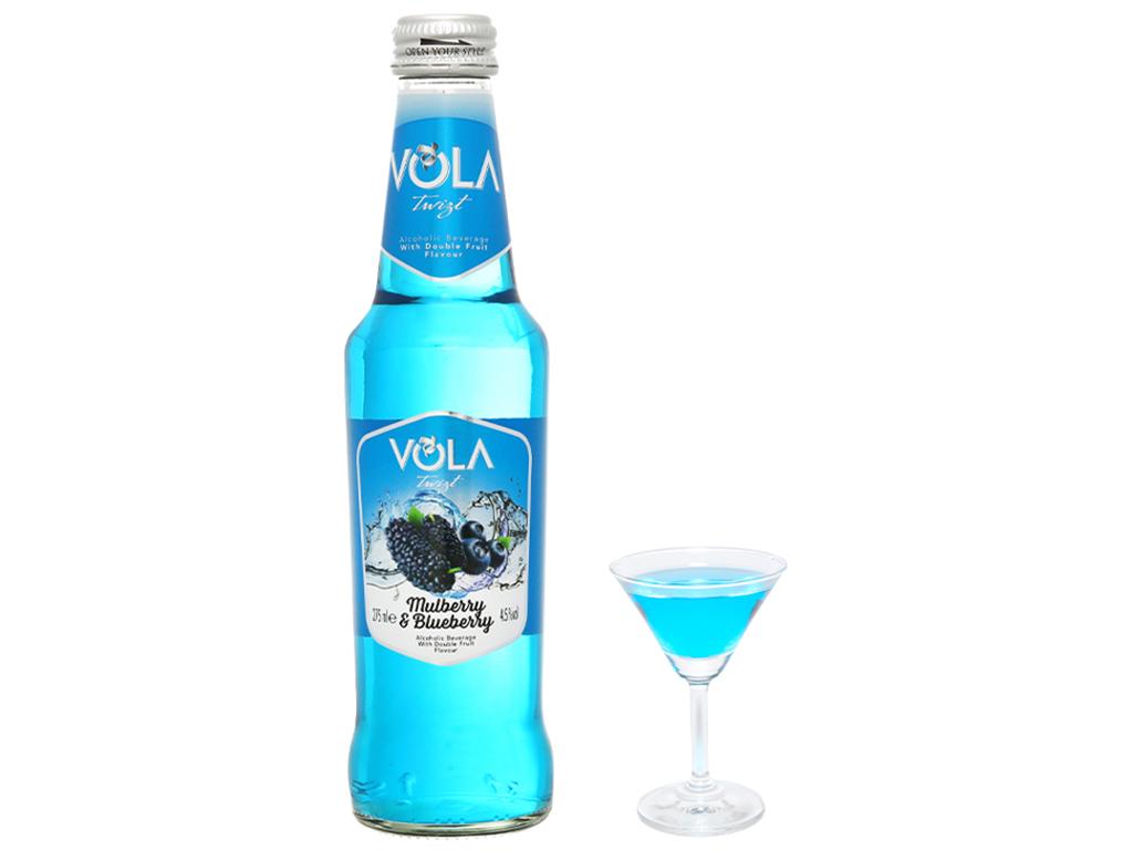 Nước trái cây lên men Vola Twist Mulberry & Blueberry chai 275ml 6