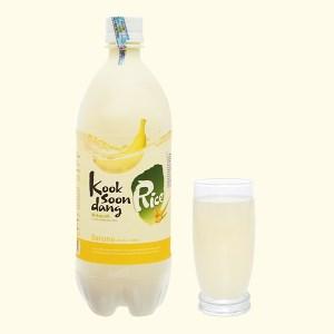 Nước gạo lên men KOOK SOON DANG Makgeolli vị chuối chai 750ml