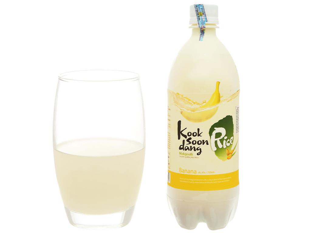 Nước gạo lên men KOOK SOON DANG Makgeolli vị chuối chai 750ml 6