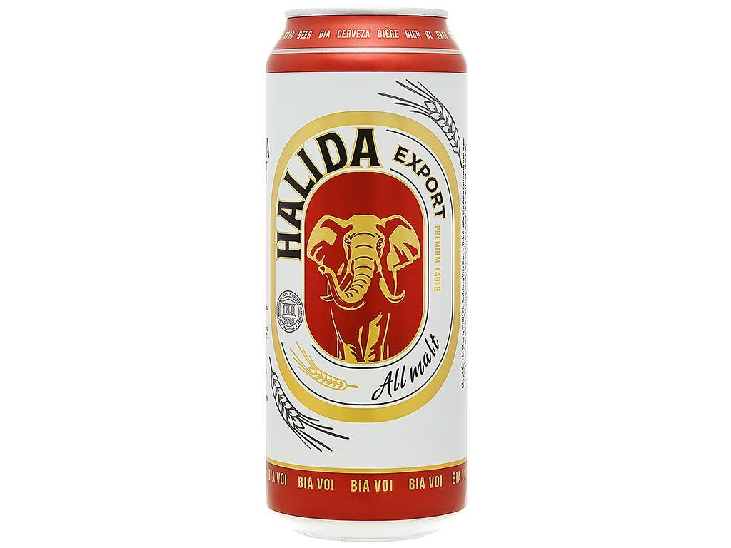 Bia Halida Export Lager All Malt 500ml 1