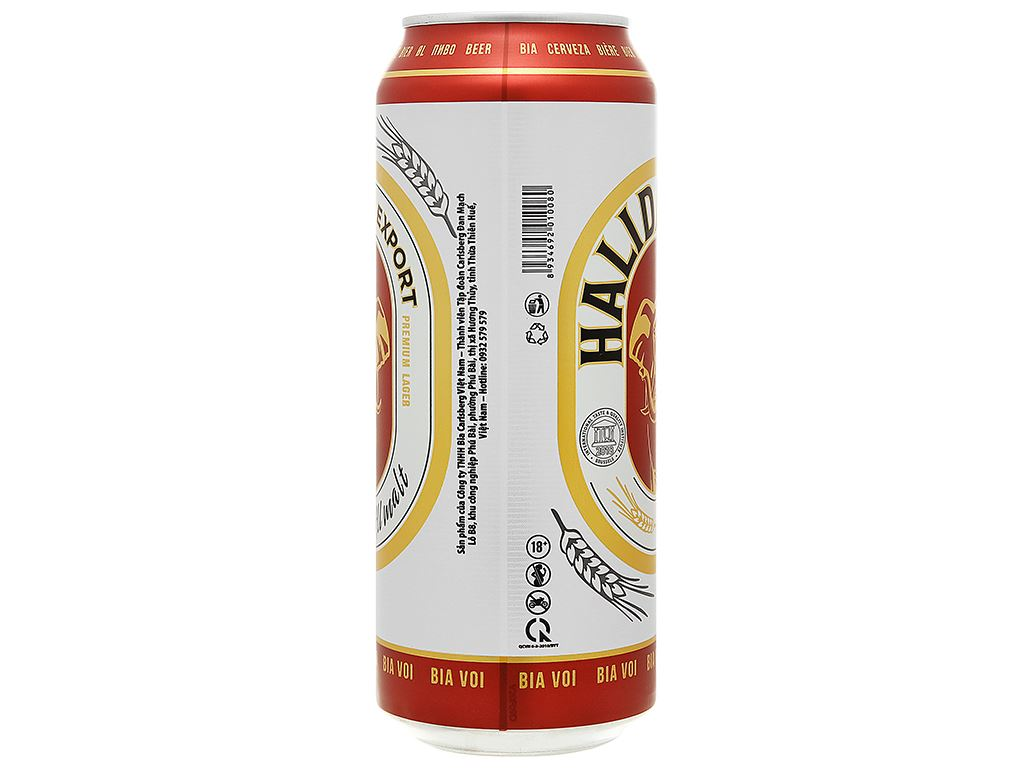 Bia Halida Export Lager All Malt 500ml 2