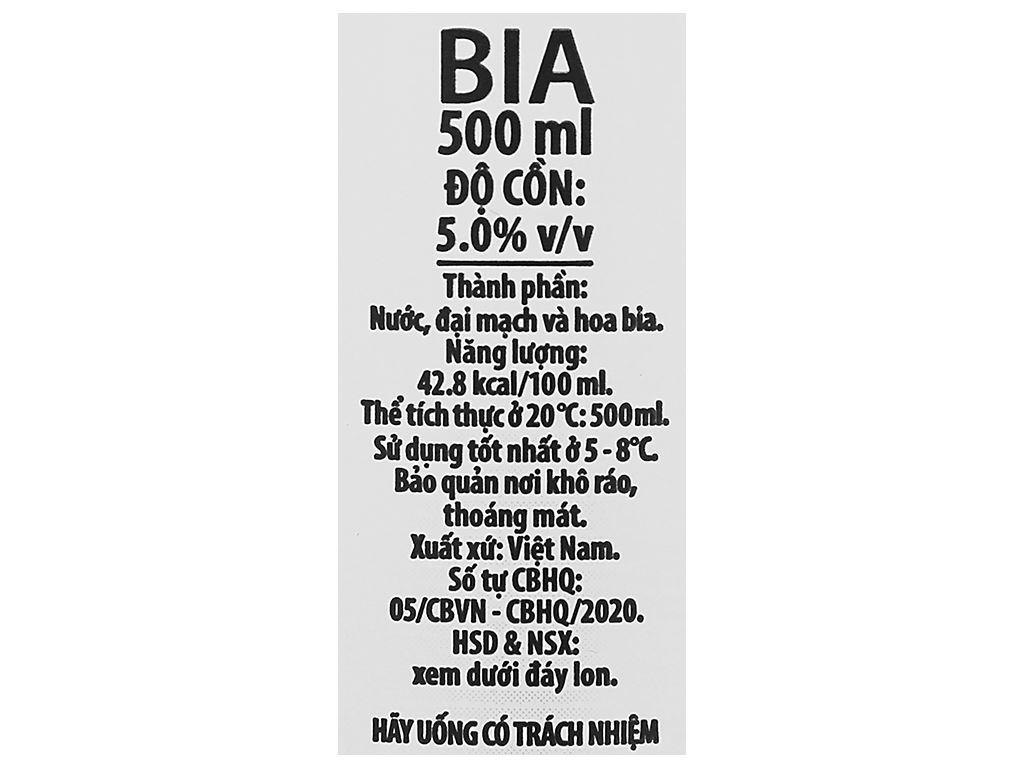 Bia Halida Export Lager All Malt 500ml 4