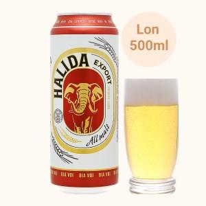 Bia Halida Export Lager All Malt 500ml