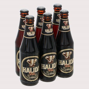 6 chai bia đen Halida 355ml