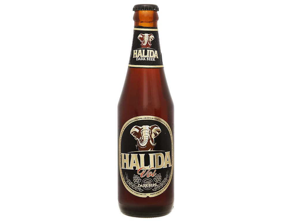 6 chai bia đen Halida 355ml 2