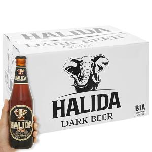 Thùng 24 lon Bia đen Halida 355ml